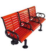 三座精致靠背公园 园林休闲椅 HCY050,公园休闲椅,园林休闲椅,防腐木休闲椅,靠背休闲椅