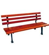 简洁型带靠背公园休闲椅 HCY051,公园休闲椅,园林休闲椅,防腐木休闲椅,靠背休闲椅