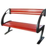 曲形扶手公园园林休闲椅 HCY053,公园休闲椅,园林休闲椅,防腐木休闲椅,靠背休闲椅