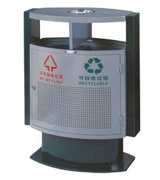 双侧投口坐地方形烟灰盅钢制垃圾桶 HC2228,钢制垃圾桶,街道户外垃圾桶,分类垃圾桶,户外垃圾桶,钢制果皮箱垃圾箱