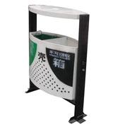 冲孔钢制分类垃圾桶果皮箱 HC2230,顶投钢制垃圾桶,方形钢制垃圾桶,分类钢制垃圾桶