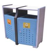 侧投口冲桩孔钢制分类垃圾桶 HC2234,侧投口钢制垃圾桶,冲桩孔钢制垃圾桶,钢制分类垃圾桶