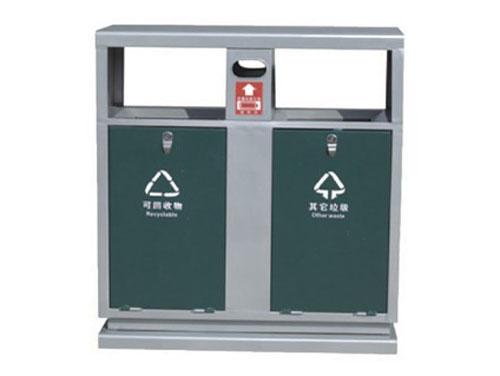 双侧投口烟灰盅钢制分类垃圾桶