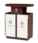 带盖顶投口方形钢制分类垃圾桶 HC2243,带盖钢制垃圾桶,顶投口钢制垃圾桶,钢制分类垃圾桶