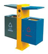 带盖顶投口钢制分类垃圾桶 HC2248,带盖钢制垃圾桶,顶投口钢制垃圾桶,方形钢制垃圾桶