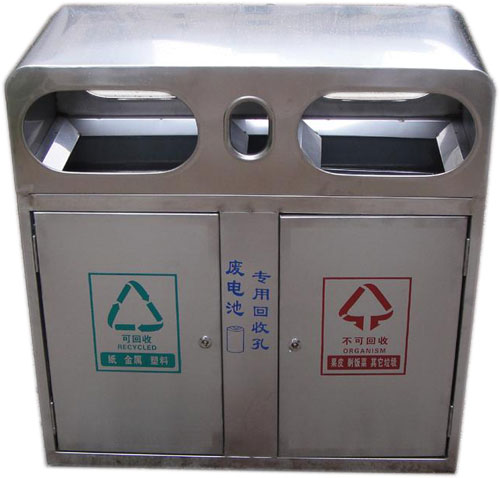 不锈钢分类垃圾桶 hc1001
