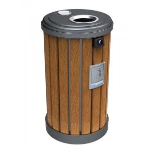 钢木垃圾桶 户外钢木垃圾桶 钢木分类垃圾桶