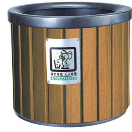 钢木垃圾桶 冷轧钢垃圾桶 户外分类垃圾桶
