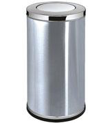 不锈钢港式摇盖垃圾桶 HC6039,港式垃圾桶,圆形不锈钢垃圾桶,摇盖垃圾桶,烟灰不锈钢垃圾桶,烤漆摇盖垃圾桶
