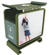 双面广告垃圾桶 HC7001,广告垃圾桶,户外垃圾桶,分类垃圾桶,钢板垃圾桶