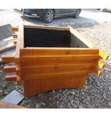 HC9302物业花箱 方形花盆 实木花箱,物业花箱,景观花箱,公园花箱
