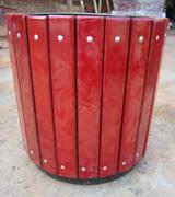 【环畅品牌】HC9307圆柱形实木花箱 物业小区花箱 公园景观花盆