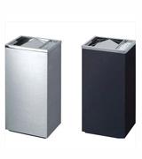 HC6001长方形翻盖坐地烟灰桶 室内金属果皮箱