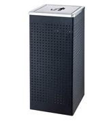 HC6038冲孔翻盖坐地烟灰桶 室内垃圾桶
