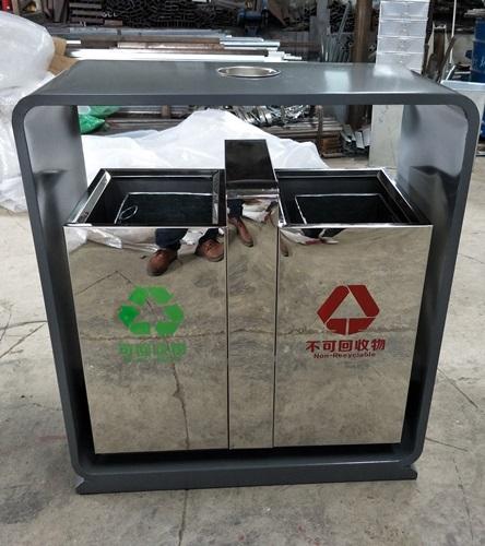 定制款户外不锈钢分类垃圾桶