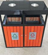 景区钢木分类垃圾桶
