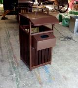 【环畅品牌】景区钢木垃圾桶