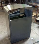 小区高档不锈钢垃圾桶 单筒果皮箱 优质果皮箱 HC1036,不锈钢垃圾桶,单筒果皮箱