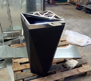 室内垃圾桶 宝石形状坐地烟灰桶 HC6040,室内垃圾桶,钻石造型垃圾桶