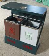 S形Z字形分类垃圾桶 金属果皮箱 HC2262,不锈钢垃圾桶,景区垃圾箱,垃圾桶垃圾箱